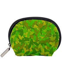 Green Autumn Accessory Pouches (small)  by Valentinaart