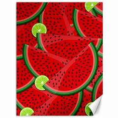 Watermelon Slices Canvas 36  X 48   by Valentinaart
