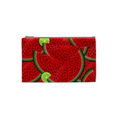 Watermelon Slices Cosmetic Bag (small)  by Valentinaart