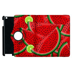 Watermelon Slices Apple Ipad 2 Flip 360 Case by Valentinaart