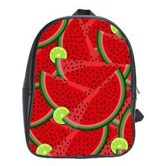 Watermelon Slices School Bags (xl)  by Valentinaart