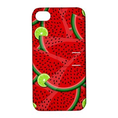 Watermelon Slices Apple Iphone 4/4s Hardshell Case With Stand by Valentinaart