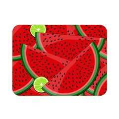 Watermelon Slices Double Sided Flano Blanket (mini)  by Valentinaart