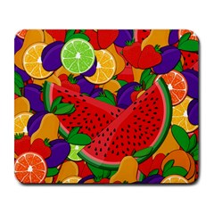 Summer Fruits Large Mousepads by Valentinaart