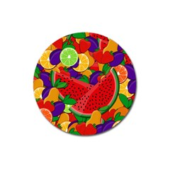 Summer Fruits Magnet 3  (round) by Valentinaart
