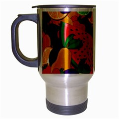Summer Fruits Travel Mug (silver Gray) by Valentinaart