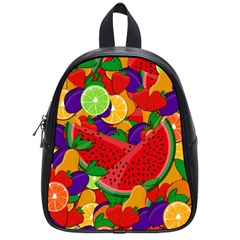 Summer Fruits School Bags (small)  by Valentinaart