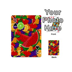 Summer Fruits Playing Cards 54 (mini)  by Valentinaart
