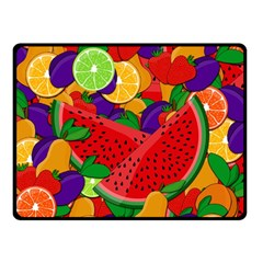 Summer Fruits Double Sided Fleece Blanket (small)  by Valentinaart
