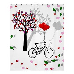 Love Design Shower Curtain 60  X 72  (medium)  by Valentinaart