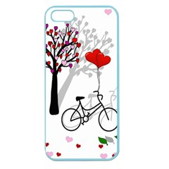 Love Design Apple Seamless Iphone 5 Case (color) by Valentinaart