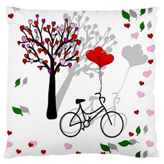 Love Design Large Flano Cushion Case (two Sides)