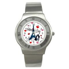 Valentine s Day   Paris Stainless Steel Watch by Valentinaart