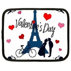 Valentine s Day   Paris Netbook Case (xl)  by Valentinaart