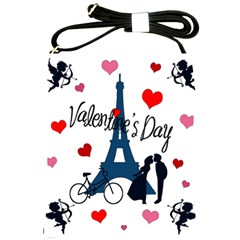 Valentine s Day   Paris Shoulder Sling Bags by Valentinaart