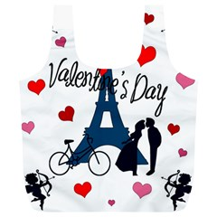 Valentine s Day   Paris Full Print Recycle Bags (l)