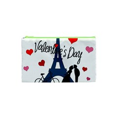 Valentine s Day   Paris Cosmetic Bag (xs) by Valentinaart