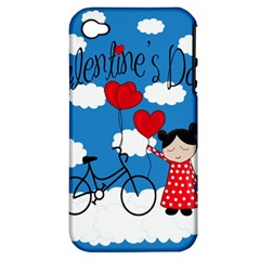 Girls Daydream Apple Iphone 4/4s Hardshell Case (pc+silicone) by Valentinaart