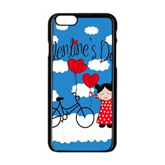 Girls Daydream Apple Iphone 6/6s Black Enamel Case by Valentinaart