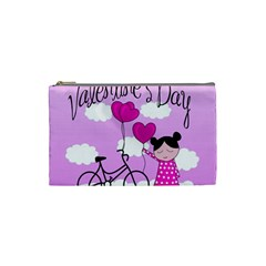 Pink Daydream  Cosmetic Bag (small)  by Valentinaart