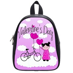 Pink Daydream  School Bags (small)  by Valentinaart