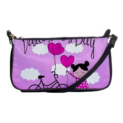 Pink Daydream  Shoulder Clutch Bags by Valentinaart