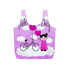 Pink Daydream  Full Print Recycle Bags (s)  by Valentinaart
