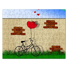 Secret Love Rectangular Jigsaw Puzzl by Valentinaart