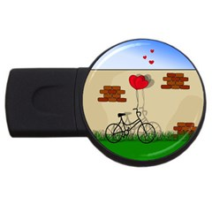 Secret Love Usb Flash Drive Round (4 Gb) by Valentinaart