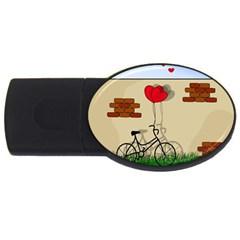 Secret Love Usb Flash Drive Oval (4 Gb) by Valentinaart