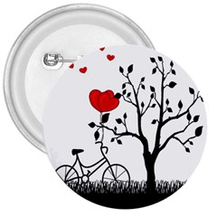 Love Hill 3  Buttons by Valentinaart