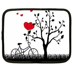 Love Hill Netbook Case (large) by Valentinaart