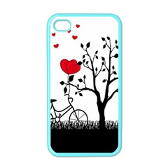 Love Hill Apple Iphone 4 Case (color) by Valentinaart