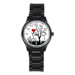 Love Hill Stainless Steel Round Watch by Valentinaart