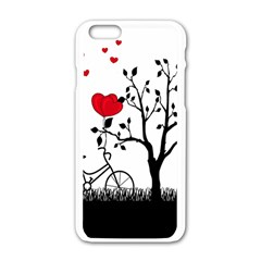 Love Hill Apple Iphone 6/6s White Enamel Case by Valentinaart