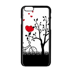 Love Hill Apple Iphone 6/6s Black Enamel Case by Valentinaart