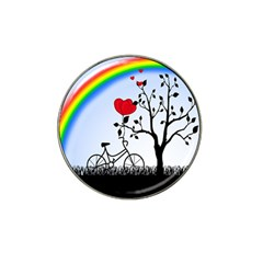 Love Hill   Rainbow Hat Clip Ball Marker (4 Pack) by Valentinaart