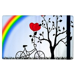 Love Hill   Rainbow Apple Ipad 2 Flip Case by Valentinaart