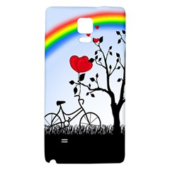 Love Hill   Rainbow Galaxy Note 4 Back Case by Valentinaart