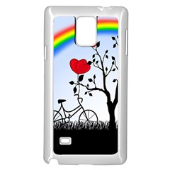 Love Hill   Rainbow Samsung Galaxy Note 4 Case (white) by Valentinaart