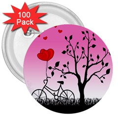 Love Sunrise 3  Buttons (100 Pack)  by Valentinaart