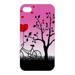 Love Sunrise Apple Iphone 4/4s Hardshell Case by Valentinaart