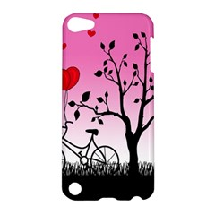 Love Sunrise Apple Ipod Touch 5 Hardshell Case by Valentinaart