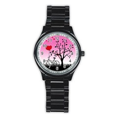 Love Sunrise Stainless Steel Round Watch by Valentinaart