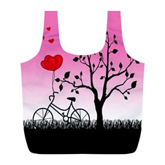 Love Sunrise Full Print Recycle Bags (l)  by Valentinaart