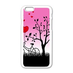 Love Sunrise Apple Iphone 6/6s White Enamel Case by Valentinaart