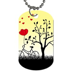 Romantic Sunrise Dog Tag (two Sides) by Valentinaart