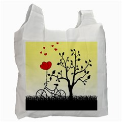 Romantic Sunrise Recycle Bag (one Side) by Valentinaart