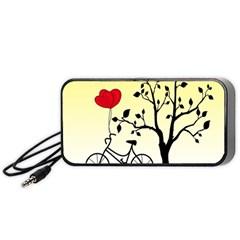 Romantic Sunrise Portable Speaker (black) by Valentinaart