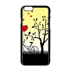 Romantic Sunrise Apple Iphone 6/6s Black Enamel Case by Valentinaart